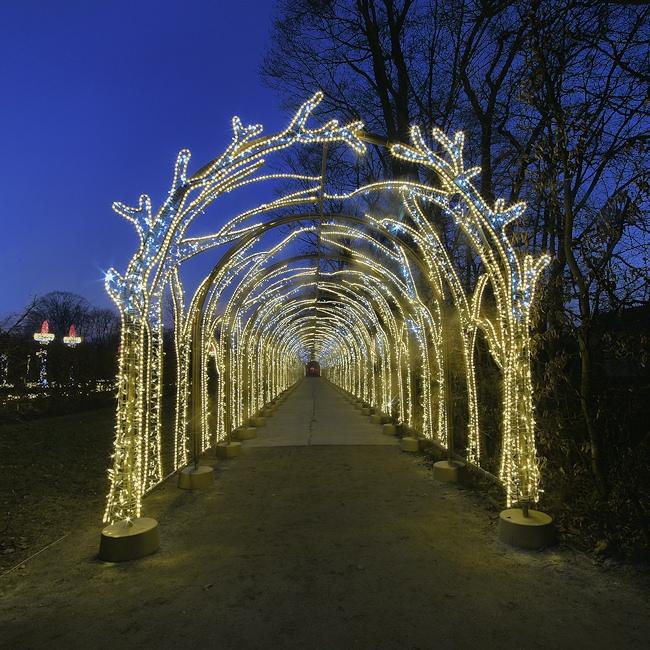 Królewski Ogród światła W Wilanowie By Geniuś Galeria